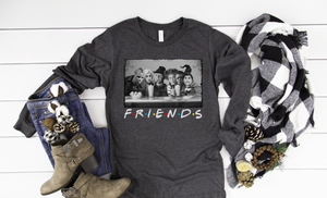 Horror Movie Friends Long Sleeve - Hot Mess Mom Designs