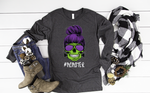 Momster Long Sleeve - funny shirts for women at Hot Mess Mom Designs