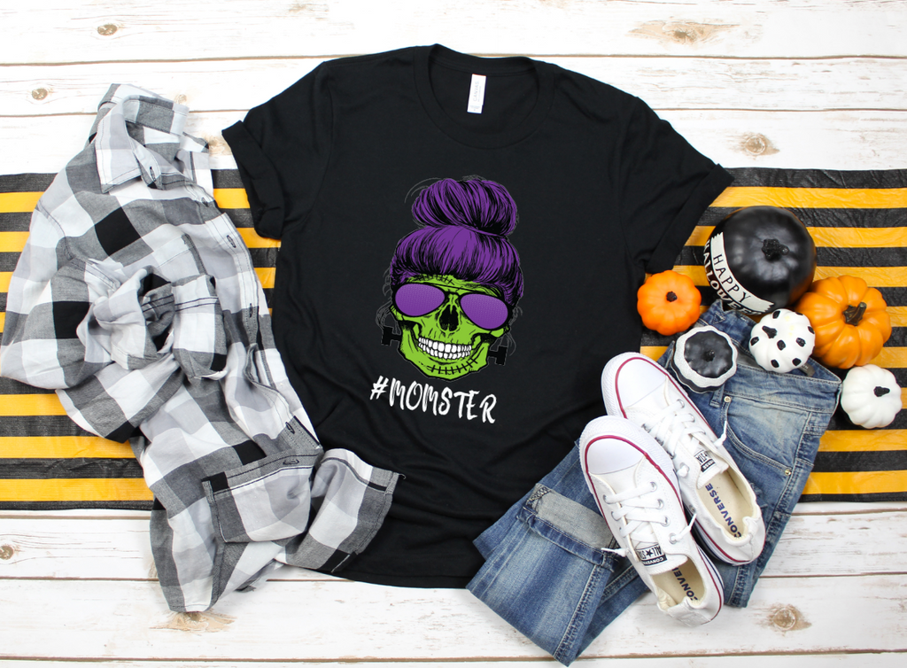 Momster Halloween Shirt - Hot Mess Mom Designs