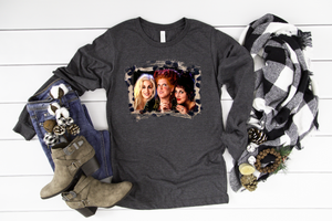Sanderson Sisters Long Sleeve - Hot Mess Mom Designs