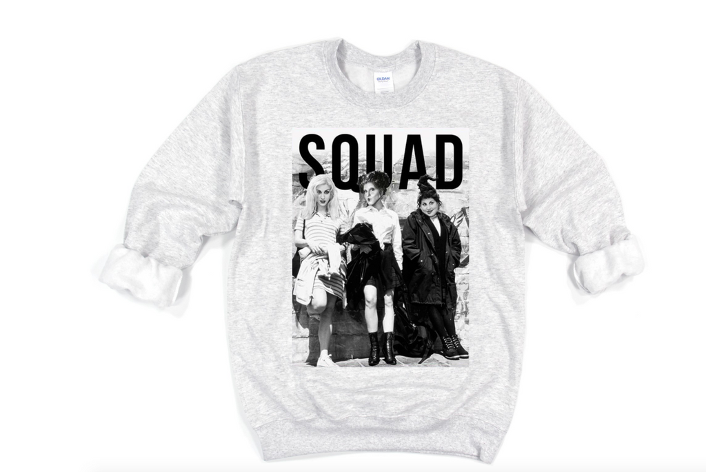 Scary Movie Squad Sweatshirt - funny shirts for women at Hot Mess Mom Designs