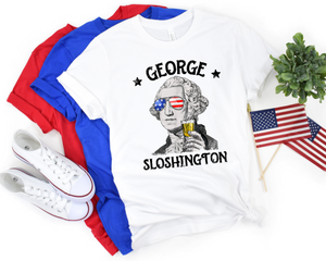 George Sloshington Tee - Hot Mess Mom Designs