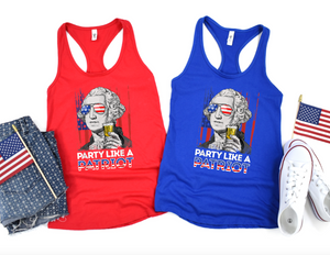 Party Like a Patriot Tank Top - Hot Mess Mom Designs
