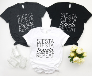 Siesta Fiesta Tequila Repeat - Hot Mess Mom Designs