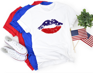 American Flag Lips - Hot Mess Mom Designs