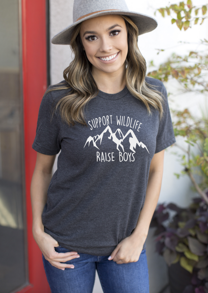 Support Wildlife Raise Boys Unisex - Hot Mess Mom Designs