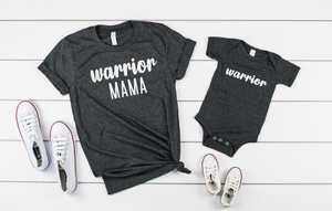Mommy and Me Shirts- Warrior Mama/Warrior Shirt Set - Hot Mess Mom Designs