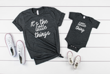 It's The Little Things/ Little Thing Shirt Set - Hot Mess Mom Designs