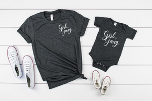 Mommy and Me Girl Gang Shirt Set