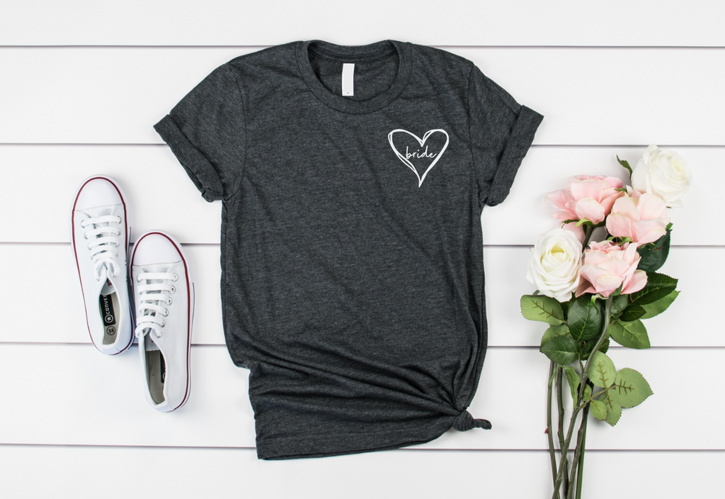 Bride Heart Shirt - Hot Mess Mom Designs
