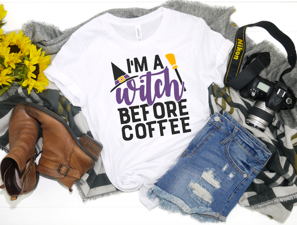 Im a Witch Before Coffee Shirt - Hot Mess Mom Designs