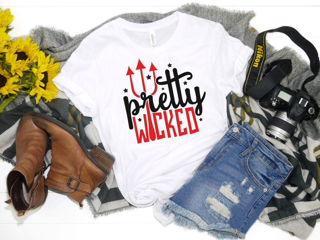 Pretty Wicked Shirt - Hot Mess Mom Designs