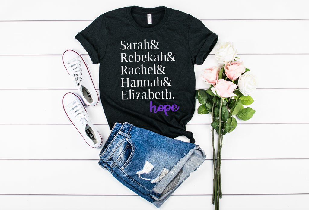 Sarah& Rebekah& Rachel& Hannah& Elizabeth. Hope - Hot Mess Mom Designs