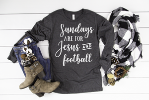Sundays are for Jesus and Football Long Sleeve - Hot Mess Mom Designs