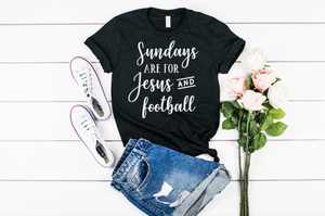 Sundays are for Jesus and Football - Hot Mess Mom Designs