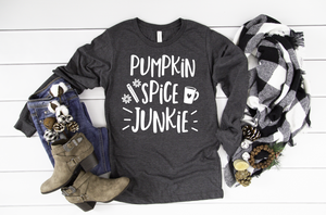 Pumpkin Spice Junkie Long Sleeve - Hot Mess Mom Designs