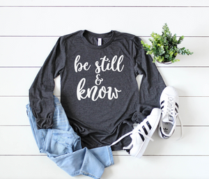 Be Still and Know - Hot Mess Mom Designs