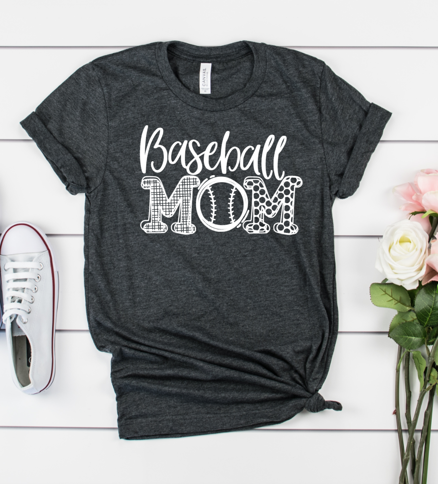 Baseball Mom Unisex Shirt - Hot Mess Mom Designs