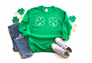 Shamrock Sweatshirt - Hot Mess Mom Designs
