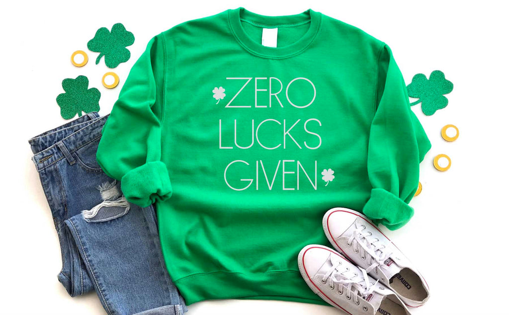 Zero Lucks Given Sweatshirt - Hot Mess Mom Designs