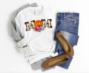 Floral Basketball Mom Shirt - funny shirts for women at Hot Mess Mom Designs