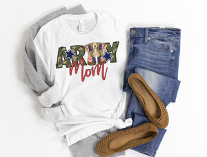 Army Mom Shirt - Hot Mess Mom Designs