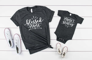 Blessed Mama/ Mamas Blessing Matching set - Hot Mess Mom Designs
