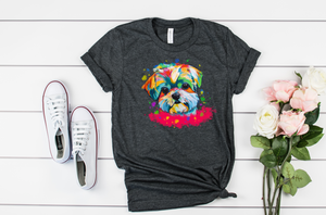Puppy Watercolor Shirt - Hot Mess Mom Designs