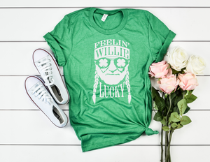 Feeling Willie Lucky - funny shirts for women at Hot Mess Mom Designs