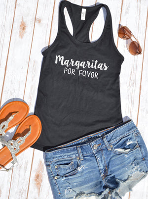 Margaritas Por Favor Tank Top - Hot Mess Mom Designs