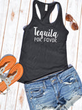 Tequila Por Favor Tank Top - Hot Mess Mom Designs