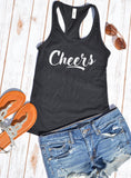 Cheers tank top - Hot Mess Mom Designs