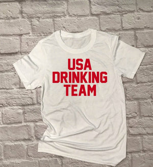 Unisex USA Drinking Team - Hot Mess Mom Designs
