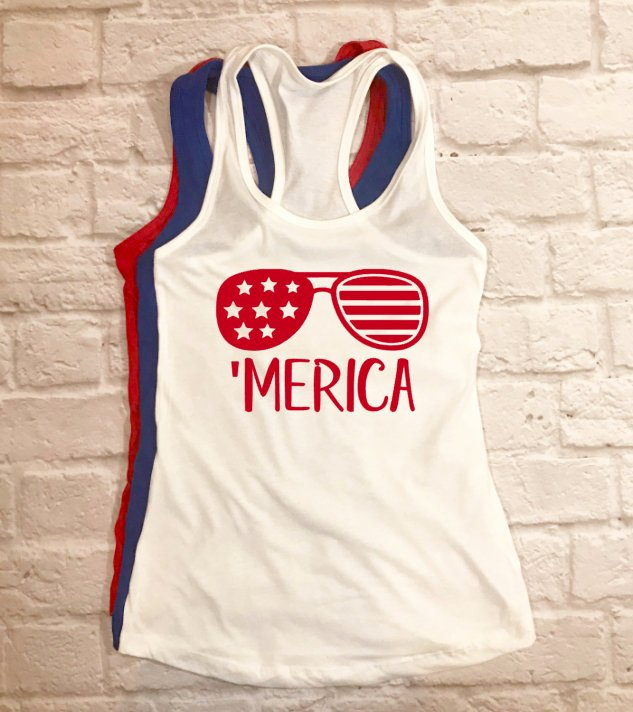 MERICA tank - Hot Mess Mom Designs