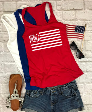 MERICA flag tank - Hot Mess Mom Designs