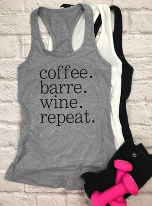 Coffee Barre Wine Repeat tank