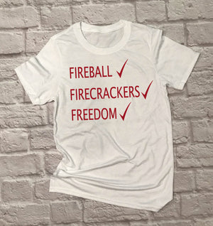 Unisex Fireball Firecrackers Freedom - Hot Mess Mom Designs