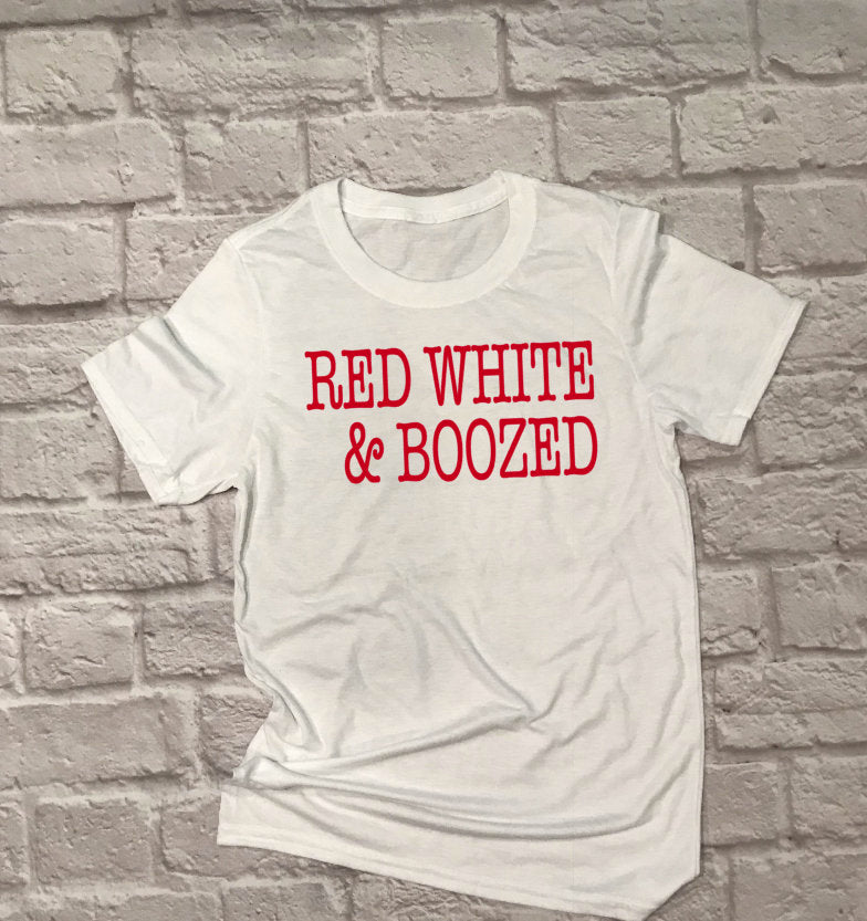 Unisex Red White and Boozed - Hot Mess Mom Designs