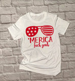 Unisex Merica Fuck yeah - Hot Mess Mom Designs