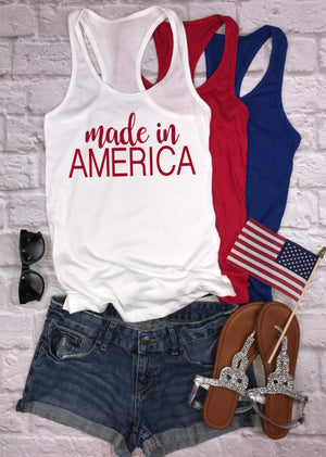 Made in America tank - Hot Mess Mom Designs