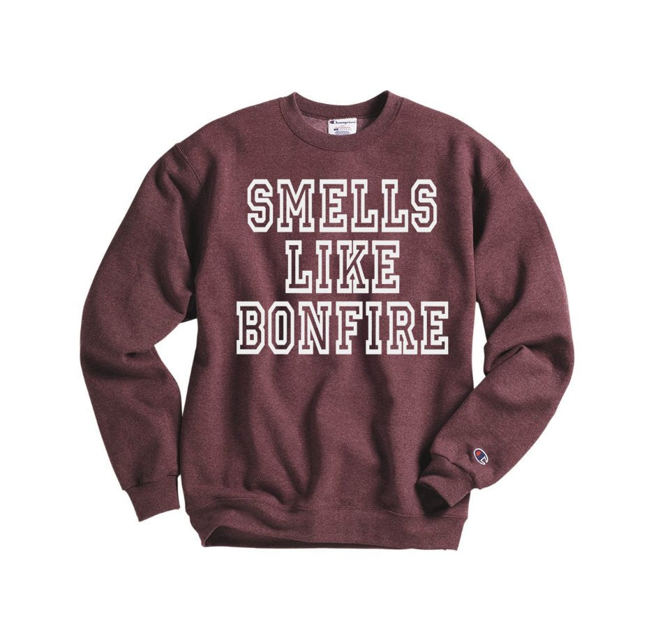 Smells Like Bonfire Sweatshirt - Hot Mess Mom Designs