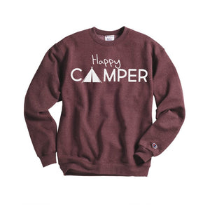 Happy Camper Sweatshirt - Hot Mess Mom Designs