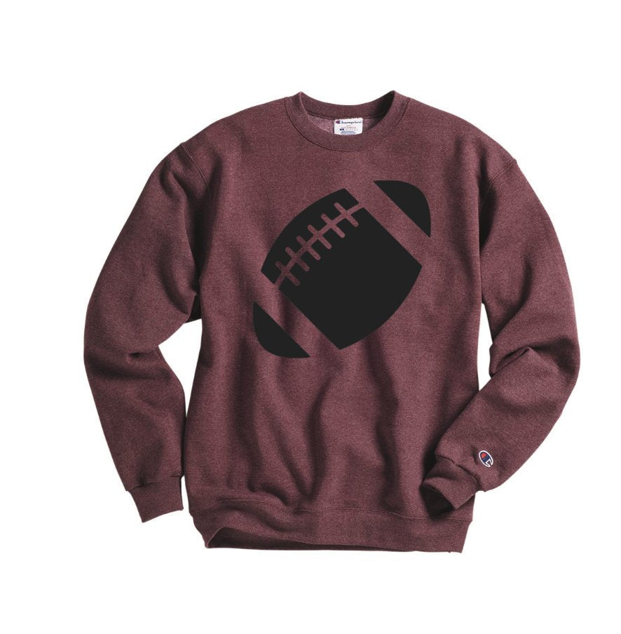 Football Sweatshirt - Hot Mess Mom Designs