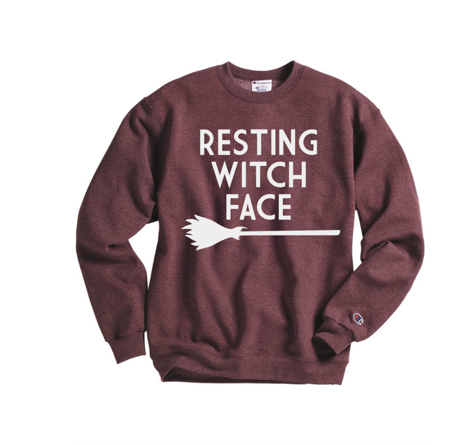 Resting Witch Face Sweatshirt - Hot Mess Mom Designs