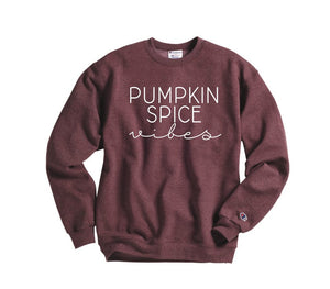 pumpkin spice vibes fall sweatshirt - Hot Mess Mom Designs