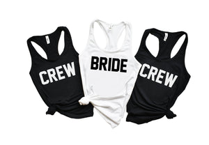 Bride Crew Tank Tops - Hot Mess Mom Designs