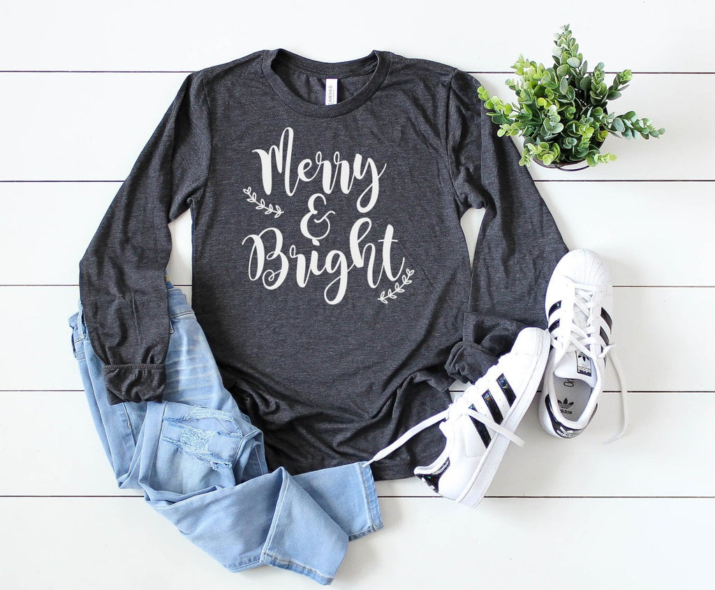 Merry and Bright Long Sleeve - Hot Mess Mom Designs