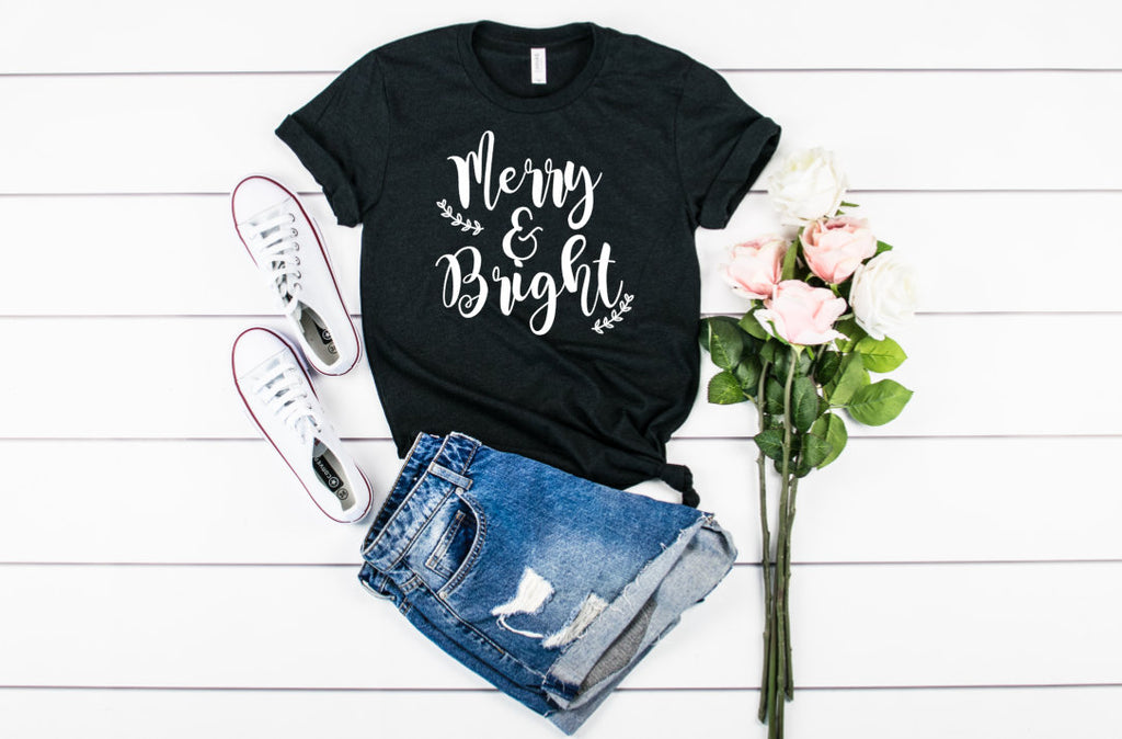 Merry and Bright Unisex shirt - Hot Mess Mom Designs