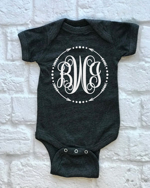 monogram children's shirt - Hot Mess Mom Designs