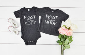 Feast Mode Kids shirt - Hot Mess Mom Designs